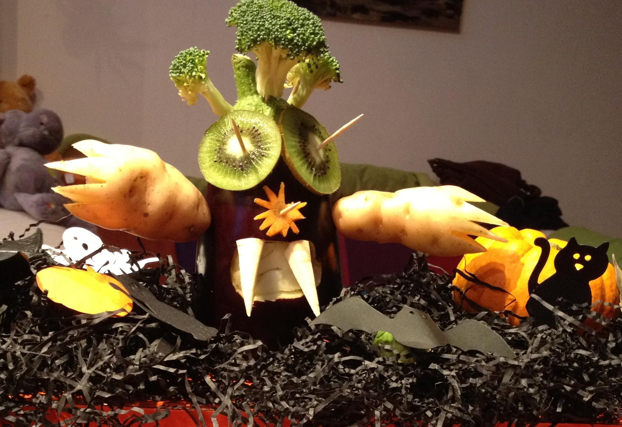 Innocent vegetable monster