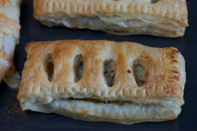 Blue cheese and caramelised onion pasties