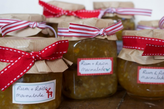 Marmalade packaged up for School Christmas Fair